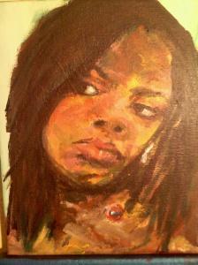 """Rachel Bensen,"" acrylic, 2011, Sarah Russell"
