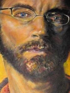 """Sir Bob Pearce,"" acrylic, 2011, Sarah Russell"