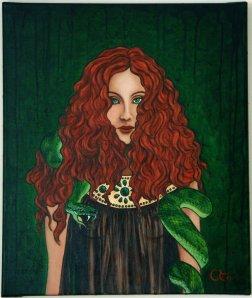 """Lilith,"" 46 x 55 cm, Adele Riner; France"