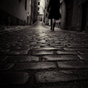 """On The Wet Cobblestones."" Mikael Raymond; Gnesta, Sweden"