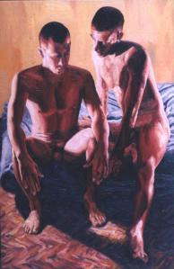 Raphael Perez  relationship oil on canvas