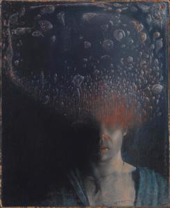 """Self-portrait with Cloud Bacterial,"" oil on canvas, Agostino Arrivabene"