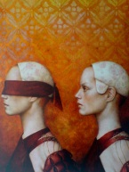 pam-hawkes-follow-me-oil-on-copperleaf-on-canvas-102-x-76cm