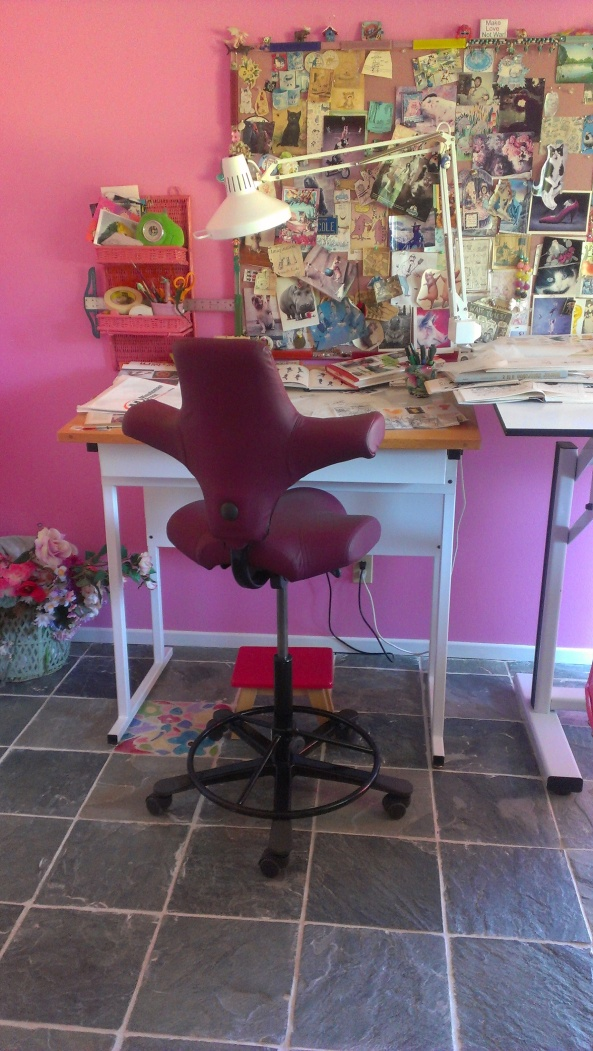 Inside Nicole Rubel's home studio.