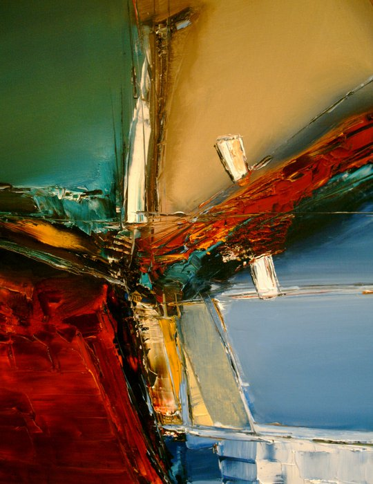"""Temptation,"" a lyrical abstract by Stefan Fiedorowicz, oil on canvas 2010"