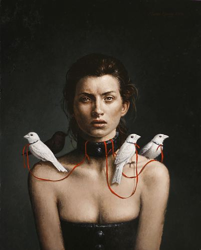 """The Collar""  oil on panel   20 x 14 in. Steven Kenny 2008"