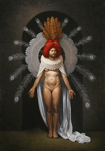 """The Alchemical Marriage,"" oil on canvas   40 x 28 in. Steven Kenny  2010"