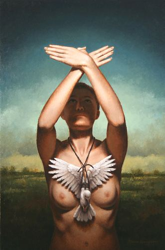 """The Gesture""  oil on linen   30 x 20 in.   Steven Kenny"