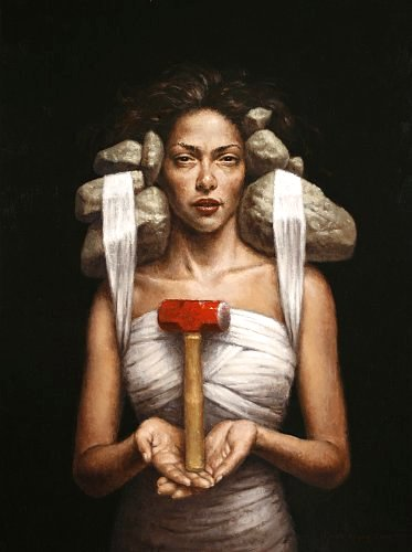 """The Hammer""  oil on linen   24 x 18 in.  Steven Kenny 2009"