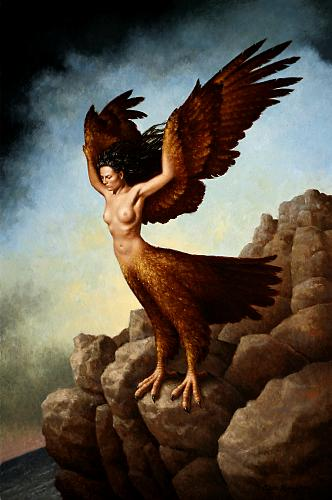 """The Harpy""  oil on linen   30 x 20 in. Steven Kenny 2009"