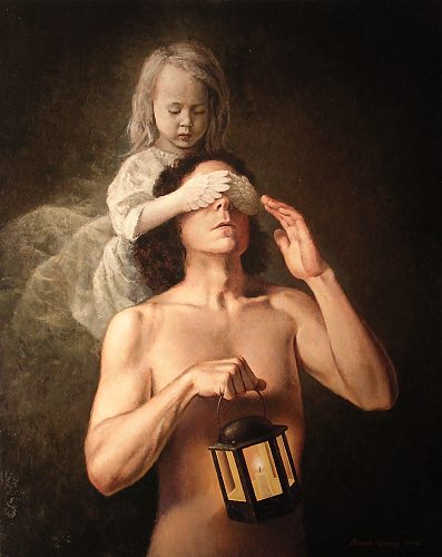 """The Lantern""    oil on linen   30 x 24 in."