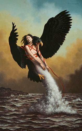 """The Rescue""  oil on linen  38 x 24 in."