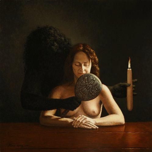"""The Shadow,""  oil on canvas   30 x 30 in. Steven Kenny 2010"