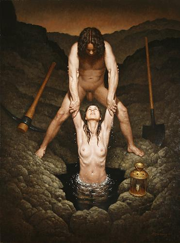 """The Unification (Anima),""  oil on canvas   48 x 36 in. Steven Kenny 2010"