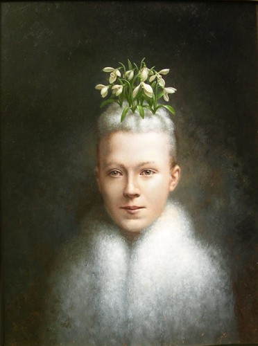 """Flora of the Snowdrops""    2003    oil on panel    24 x 18 in."