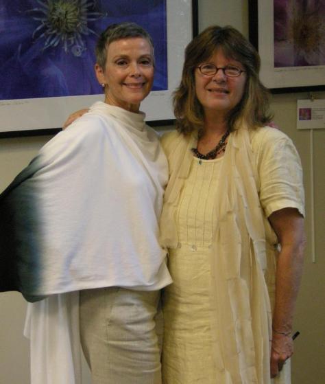 Julie Maloney with poet Dorianne Laux