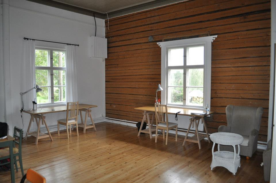 Arteles studio in Finland where Ryan and partner Hollie stayed during their residency.
